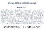 social media management concept.... | Shutterstock .eps vector #1373583734