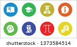 knowledge icon set. 8 filled... | Shutterstock .eps vector #1373584514