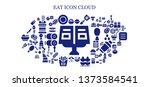 eat icon set. 93 filled eat... | Shutterstock .eps vector #1373584541