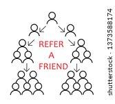vector refer a friend icon in...