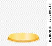 realistic round gold pedestal... | Shutterstock .eps vector #1373589254