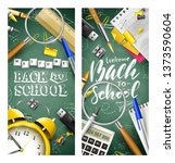 back to school headers or... | Shutterstock .eps vector #1373590604