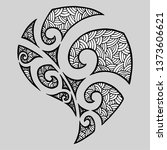 maori tribal symbol tattoo... | Shutterstock .eps vector #1373606621