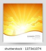sunny background | Shutterstock .eps vector #137361074