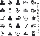solid vector icon set   medical ...   Shutterstock .eps vector #1373612624
