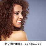 closeup portrait of a... | Shutterstock . vector #137361719