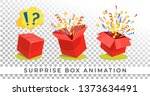 surprise box animation isolated ...