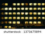 Windows Of Night House With...