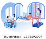 rehabilitation disabled... | Shutterstock .eps vector #1373692007
