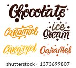 chocolate and caramel hand... | Shutterstock . vector #1373699807