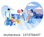 caring for children autistic... | Shutterstock .eps vector #1373706437
