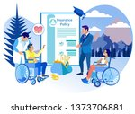 life insurance for people with...   Shutterstock .eps vector #1373706881