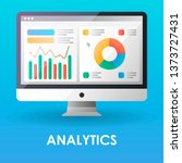 analytics flat color icon....
