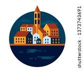 mediterranean city vector...   Shutterstock .eps vector #1373743691