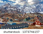 A view of Tasiilaq, a town surrounded by high mountains in Eastern Greenland