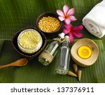 green leaf texture and health... | Shutterstock . vector #137376911