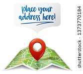 map with a pin location symbol... | Shutterstock .eps vector #1373770184