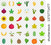 botany icons set. cartoon style ... | Shutterstock . vector #1373771477