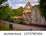 medieval castle ruins in...   Shutterstock . vector #1373785304