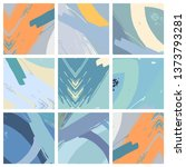 abstract collage asymmetric... | Shutterstock .eps vector #1373793281