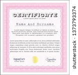 pink awesome certificate... | Shutterstock .eps vector #1373793374