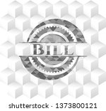 bill grey emblem with cube... | Shutterstock .eps vector #1373800121