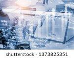 stock market or forex trading...   Shutterstock . vector #1373825351