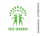 go green  people and tree logo... | Shutterstock .eps vector #1373835614