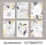 wedding invitation  floral...   Shutterstock .eps vector #1373865374