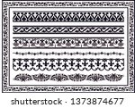 set of vector borders art... | Shutterstock .eps vector #1373874677