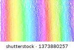 pastel wavy rainbow texture. | Shutterstock . vector #1373880257