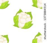 cauliflower vegetable seamless... | Shutterstock .eps vector #1373884514