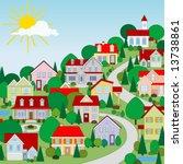 houses | Shutterstock .eps vector #13738861