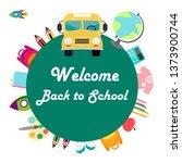 welcome back to school vector... | Shutterstock .eps vector #1373900744