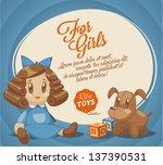 for girls backdrop | Shutterstock .eps vector #137390531