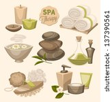 spa emblems | Shutterstock .eps vector #137390561