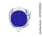 mystic moon illustration ... | Shutterstock .eps vector #1373920904