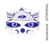 mystic sight third eye... | Shutterstock .eps vector #1373920961