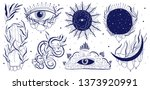 mystic set illustration ... | Shutterstock .eps vector #1373920991