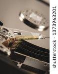 hard disk rotating details.... | Shutterstock . vector #1373963201