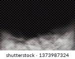 fog or smoke isolated... | Shutterstock .eps vector #1373987324