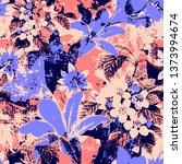 modern flower pattern   Shutterstock . vector #1373994674