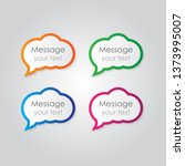 speech bubbles in modern style. ... | Shutterstock .eps vector #1373995007