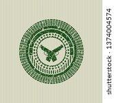 green crossed pistols icon... | Shutterstock .eps vector #1374004574