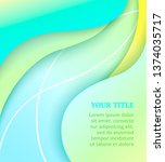 abstract cover with colorful... | Shutterstock .eps vector #1374035717