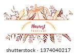 harvest festival. frame with... | Shutterstock .eps vector #1374040217