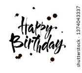 happy birthday  vintage hand...   Shutterstock .eps vector #1374043337