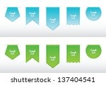 set of ribbon icons  blue and... | Shutterstock .eps vector #137404541