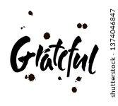 grateful hand drawn postcard....   Shutterstock .eps vector #1374046847