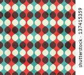 vintage seamless pattern with... | Shutterstock .eps vector #137415359